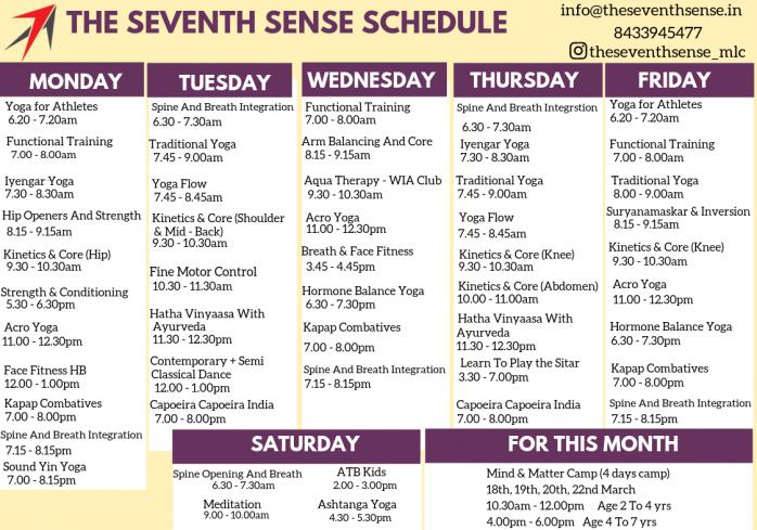 Class Schedule (10)